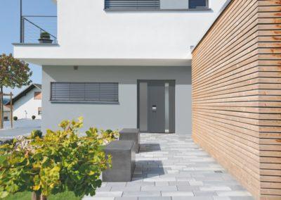 Porte d'entrée villa en aluminium - Liège