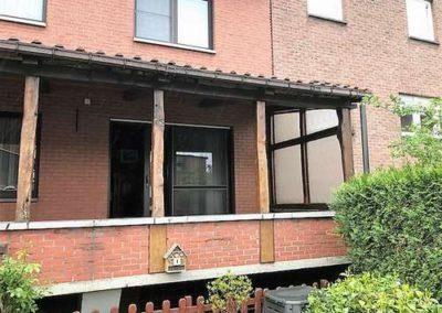Installation d'une protection solaire (pergola) à Wandre (Liège)