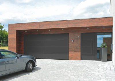 Porte d'entrée + porte de garage Hörmann (Liège - Rogister-Lacroix)