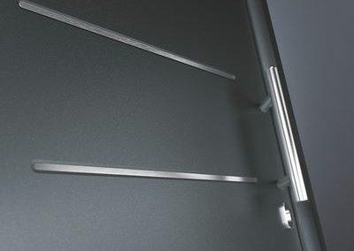 Porte d'entrée Hörmann - Thermo 65, aspect acier inoxydable