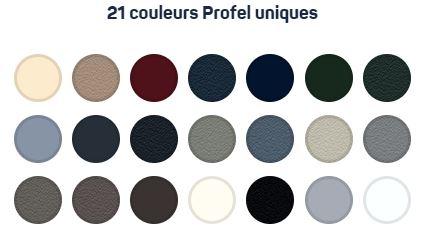 Châssis en aluminium Profel : 21 couleurs uniques